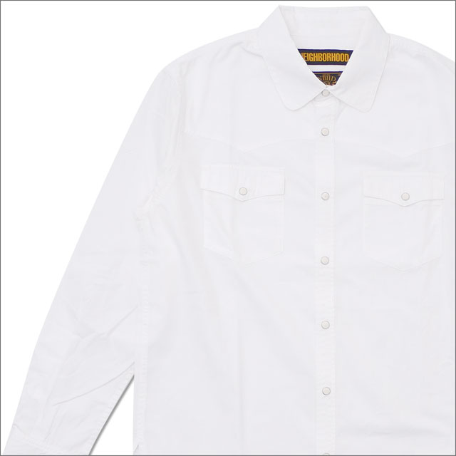NEIGHBORHOOD(ネイバーフッド) DEADWOOD/C-SHIRT.LS (長袖シャツ) 181ARNH-SHM05 WHITE 216-001540-040-【新品】
