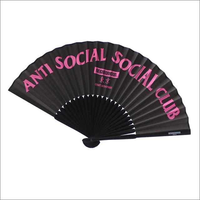 NEIGHBORHOOD(ネイバーフッド) x Anti Social Social Club(アンチソーシャルソーシャルクラブ) ASSC BP-FAN (扇子) BLACK 290-004681-011+【新品】