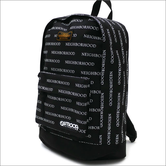NEIGHBORHOOD(ネイバーフッド) NHOP.LOGO/E-DAY PACK-L (バックパック) 181KSOPN-CG01S BLACK 276-000283-011-【新品】