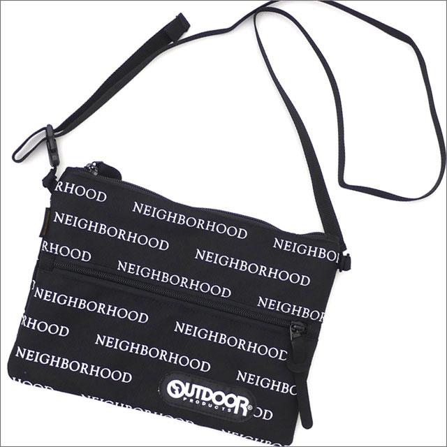 NEIGHBORHOOD(ネイバーフッド) NHOP.LOGO/E-MUSETTE BAG (ショルダーバッグ) 181KSOPN-CG03S BLACK 277-002495-011-【新品】
