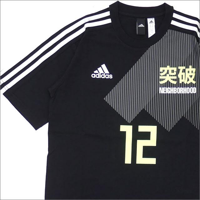 NEIGHBORHOOD(ネイバーフッド) x adidas Originals(アディダス) M KACHIIRO TEE (Tシャツ) BLACK 200-007852-041-【新品】