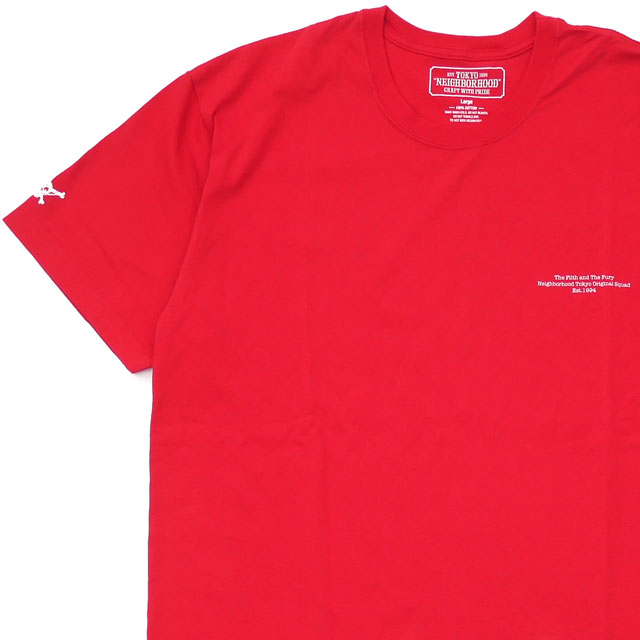NEIGHBORHOOD(ネイバーフッド) OG/C-TEE.SS (Tシャツ) 181PCNH-ST17S RED 200-007919-053-【新品】