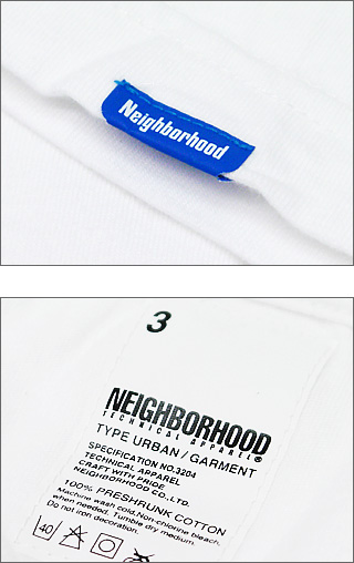 NEIGHBORHOOD(네이버후드) NO. 3204 T셔츠