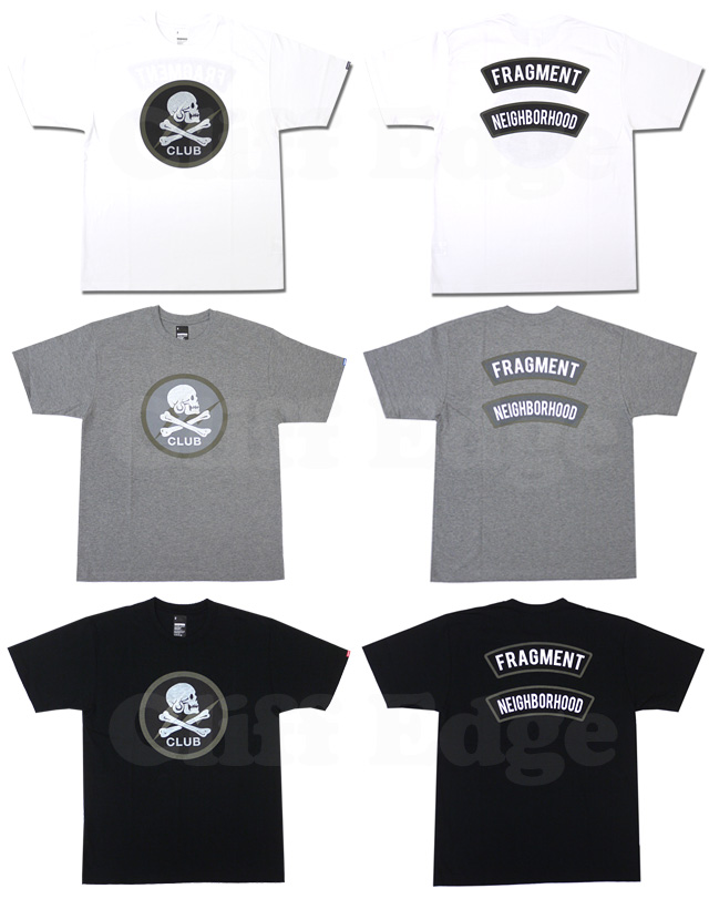 NEIGHBORHOOD(네이버후드) x Fragment Design(fragment 디자인) CLUB T셔츠200-003499-030+