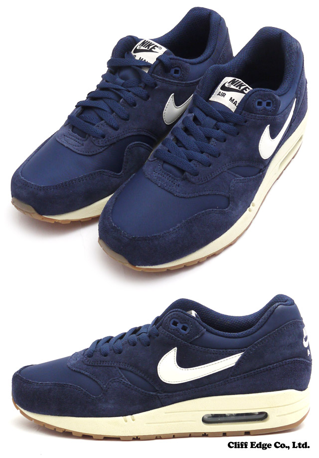 nike air max 1 essential suede midnight navy sail