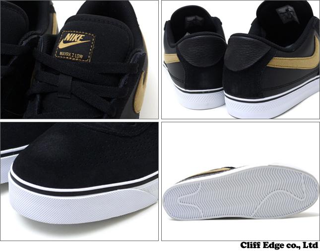 64b5b308cea6 Cliff Edge  NIKE MAVRK LOW 2 鞋  運動鞋 BLACK METALLIC GOLD-WHITE ...
