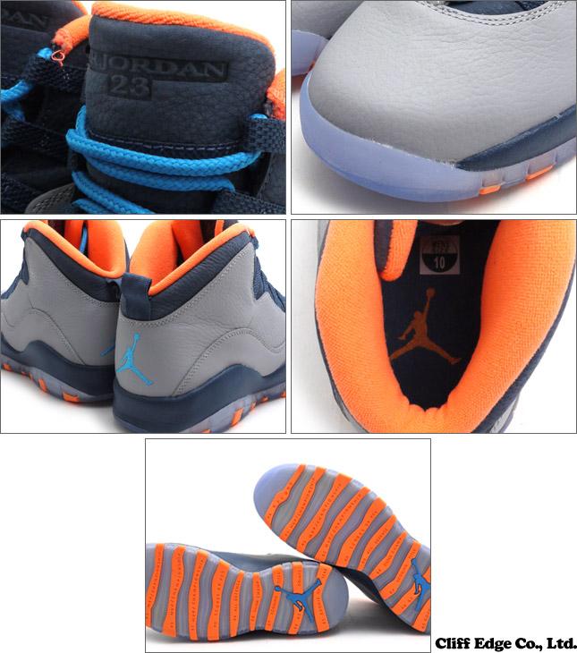 [VIP 고객 한정 특별 상품!!] NIKE AIR JORDAN 10 RETRO (에 어 조던) (운동 화) (신발) DARK GREY WOLF/POWDER BLUE-NEW SLATE-ATOMIC ORANGE 310805-026 803-000190-302 + 당 점 통상 가격 38664 엔의 곳