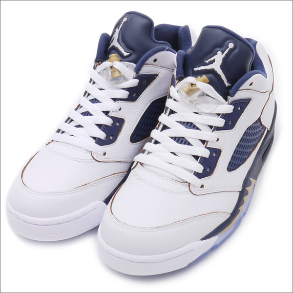 NIKE(ナイキ) AIR JORDAN 5 LOW RETRO (エアジョーダン)(スニーカー)(シューズ) WHITE/METALLIC GOLD STAR-MIDNIGHT NAVY 819171-135 291-002021-290x【新品】191-011080-300 191-011058-280