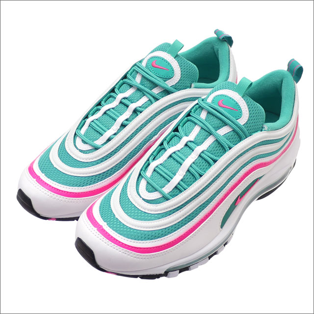 ナイキ NIKE AIR MAX 97 エアマックス97 WHITE PINK BLASTKINETIC GREEN 921826102 291002414290 【新品】