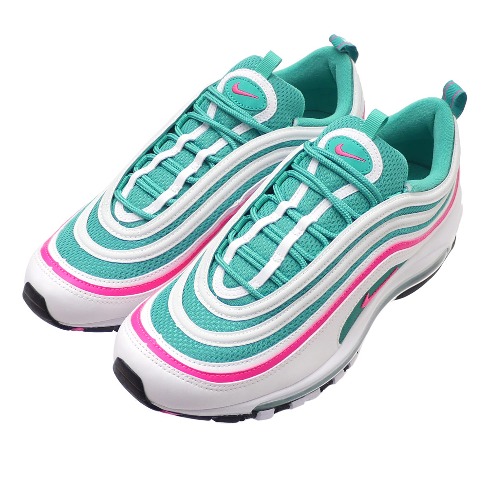 NIKE (Nike) AIR MAX 97 (Air Max 97) WHITE PINK BLAST-KINETIC GREEN 921 bb13338df