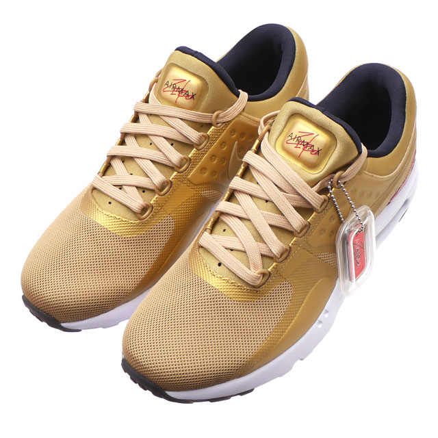 Cliff Edge  NIKE (Nike) AIR MAX ZERO QS (Air Max zero) METALLIC GOLD ... 28844f0a0