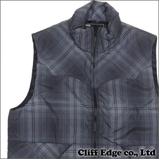 NUMBER(N)INE 先染 OMBLE CHECK DOWN VEST [ダウンベスト] BLACK 307-000022-521+【新品】