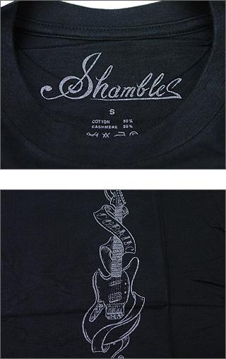 NUMBER(N) INE(넘버 나인) SHAMBLES 기타 캐시미어 T셔츠 BLACK