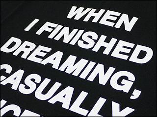 NUMBER(N) INE(넘버 나인) WHEN I FINISHED DREAMING T셔츠 BLACK 200-002318-531