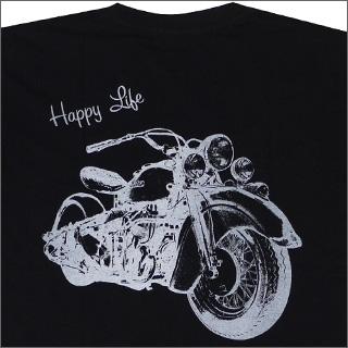 Goro 's (ゴローズ) HAPPY LIFE 티셔츠 BLACK 200-002936-041 +