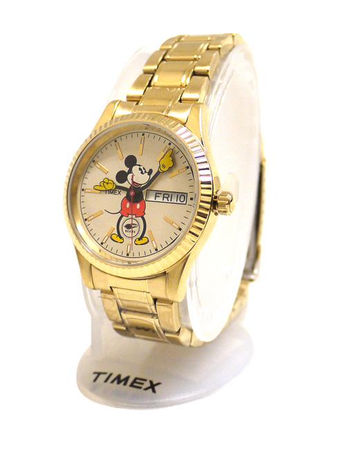 BEAMS (철근) xTIMEX (태국 멕시코) 미키 마우스 메탈 워치 GOLD 287-000092-018x