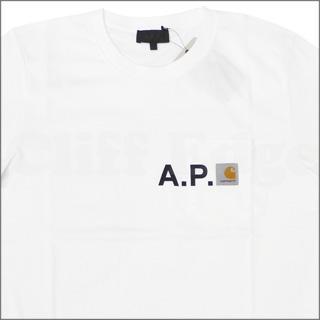 A.P.C. (아 페 세) x CARHARTT (칼 하트) 포켓 티셔츠 WHITE 200-003455-030x