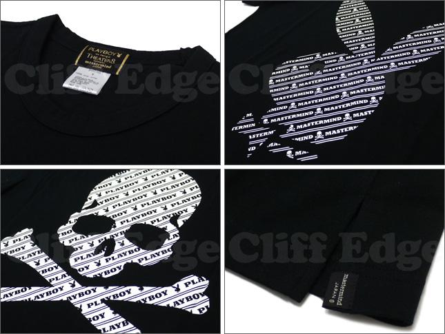 mastermind JAPAN(마스터 마인드 재팬) x Playboy(플레이 보이) x THEATER 8(극장 에이트) 바이어스 모노그램 T셔츠 BLACK 200-003931-041 x