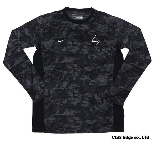 F.C.R.B. x mastermind JAPAN 위장무늬 DF GAME 긴소매 T셔츠 BLACK 204-000013-041 x
