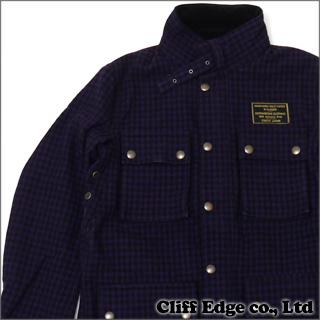 WACKOMARIA ギンガムチェック ライダースジャケット PURPLE 330-000106-049+【新品】