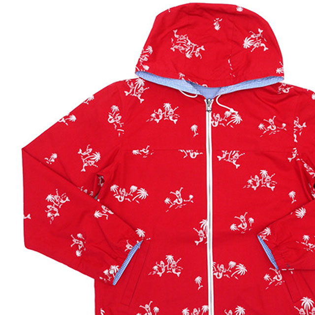 WACKOMARIA リバーシブル フードナイロンジャケット RED/SAX 330-000135-043+【新品】