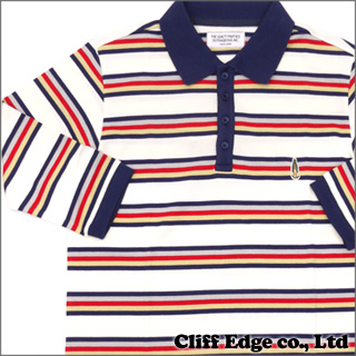 WACKOMARIA BORDER POLO SHIRT [七分袖ポロシャツ] WHITE 318-000015-050+【新品】