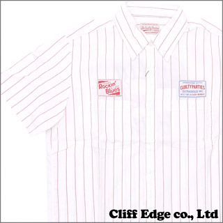 WACKOMARIA WAPPEN STRIPE WORK SHIRT (ワークシャツ) WHITExRED 315-000040-053+【新品】