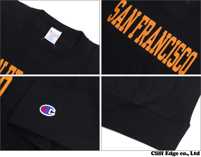 BEAMS x CHAMPION SAN FRANCISCO 티셔츠 BLACK 210-000030-031x