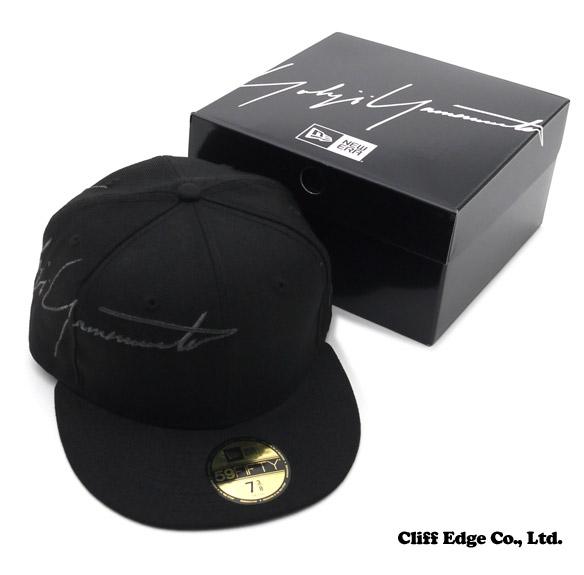 Yohji Yamamoto(요우지야마모트) x NEW ERA(뉴 에러) SIGNATURE 59 FIFTY CAP (뉴 에러 캡) BLACK 250-000339-051 x