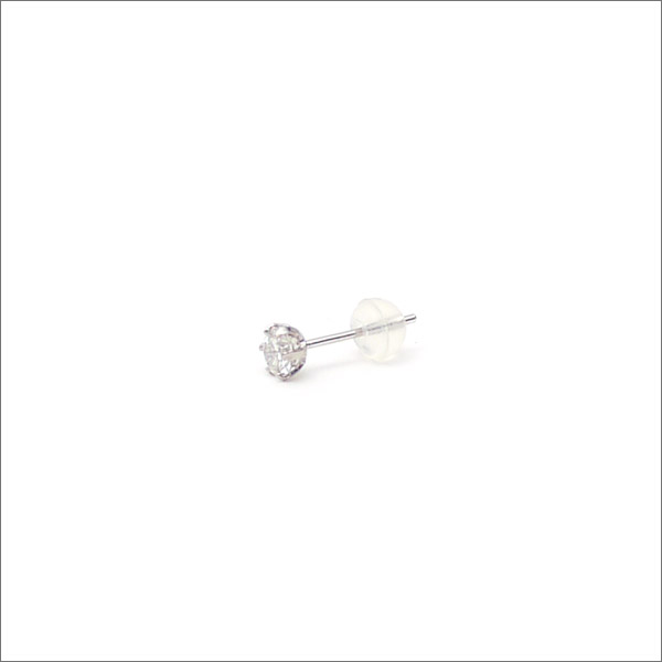 K18天然ダイヤモンド ピアス 0.185ct WHITE GOLD 370000009010 【新品】