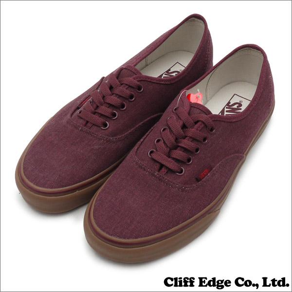f23e7b16fda052 VANS (vans) Authentic (Washed Canvas) (authentic) (shoes) (sneakers) PORT  RYOYAL gum 831-000279-279 +