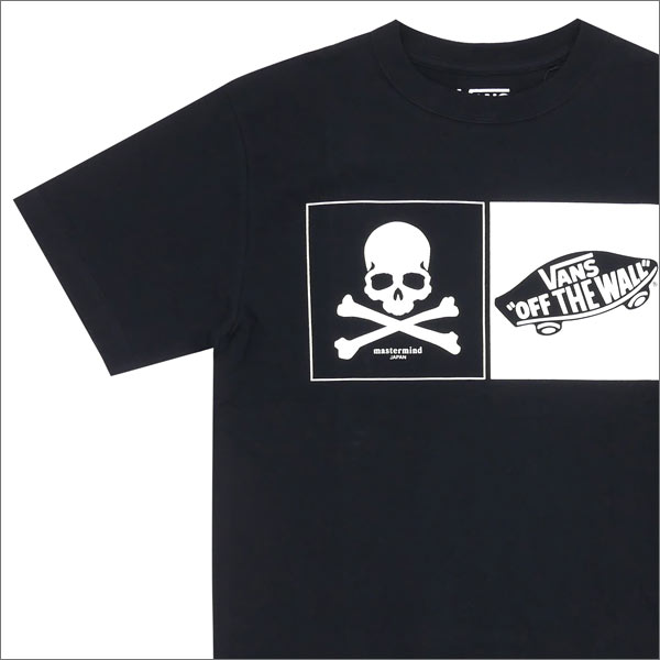 mastermind JAPAN x VANS BLACK CHECKER OTW S S TEE (T shirt) BLACK  200-007098-051 + 348de7399a20