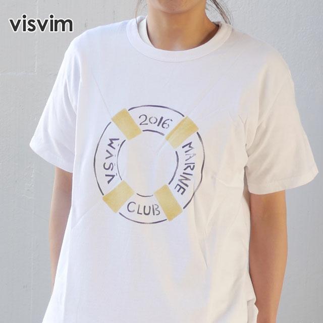 visvim(ヴィズビム) Zushi Marina 1st Anniversary Exclusive MARINE CLUB TEE S/S (Tシャツ) YELLOW 200-007123-528x【新品】