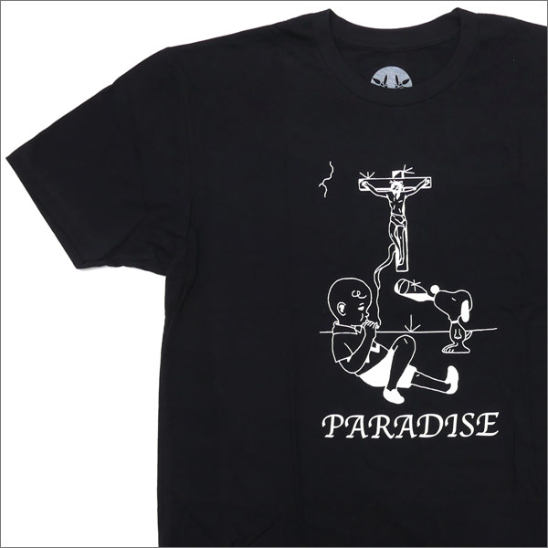 PARADIS3/PARADISE (파라다이스) Charlie Brown Paradise Tee (T 셔츠) BLACK 200-007180-041x
