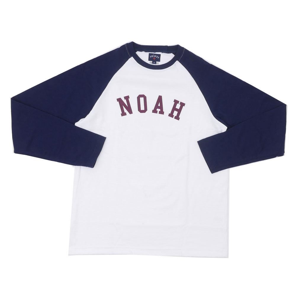 NOAH ノア RAGLAN TOP ラグランTシャツ WHITExNAVY 203000230040 【新品】