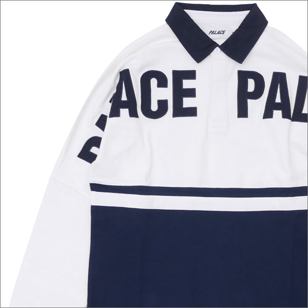 Palace Skateboards(パレス スケートボード) P2 Rugby (ラガーシャツ) WHITExNAVY 420-000017-040+【新品】