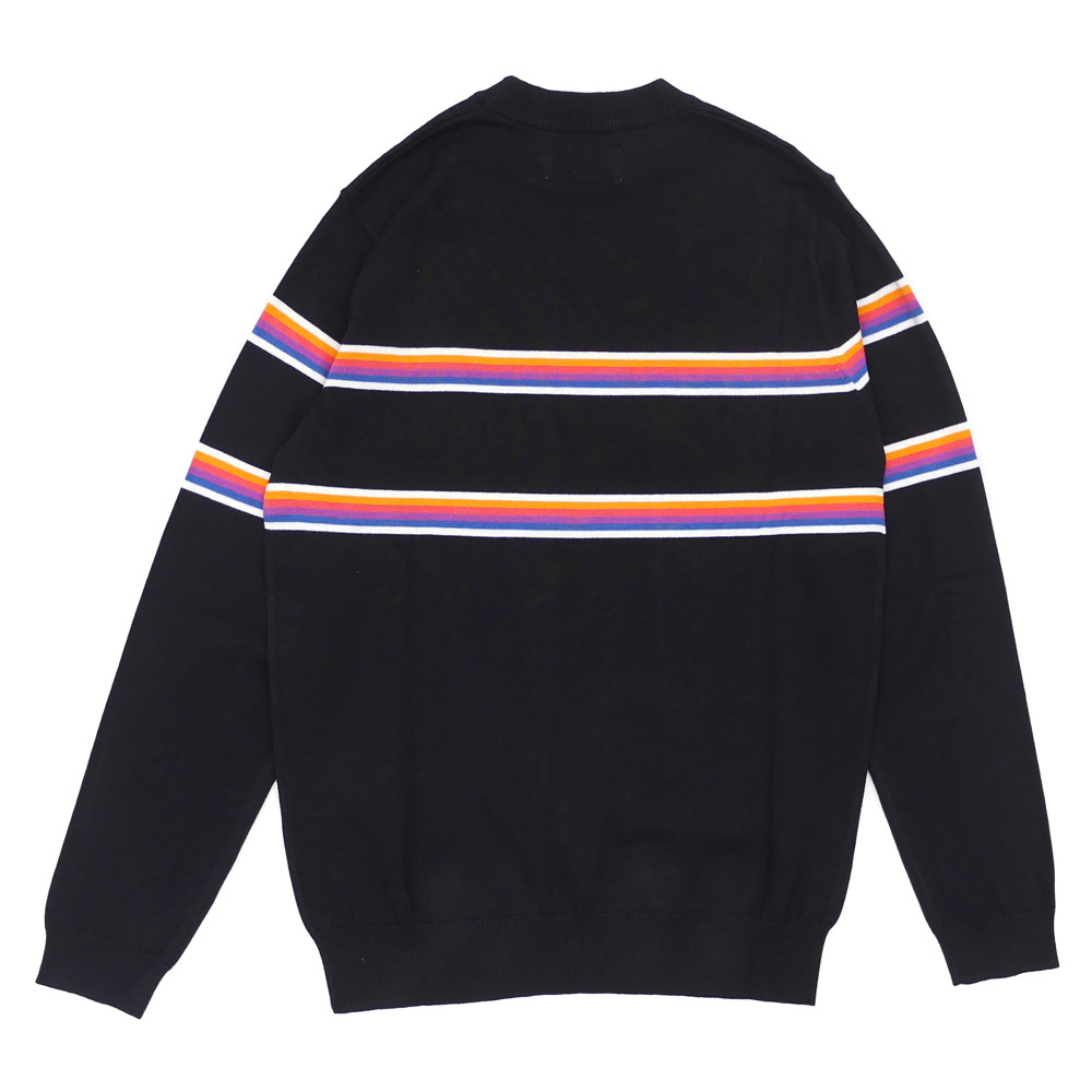 Palace Skateboards(宫殿滑板)Multi Stripe Knit(编织物)BLACK 420-000016-031+