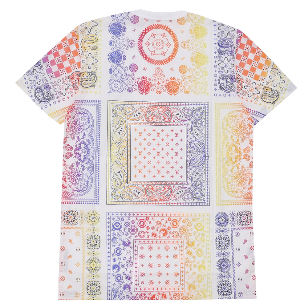 LOUIS VUITTON x Fragment Design BANDANA TEE (T-shirt) WHITE 200-007361-030+