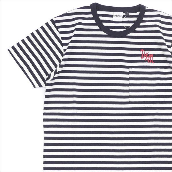 Deus ex Machina(デウス エクス マキナ) Dxm Stripe Tee (Tシャツ) BLACKxBLANC 200-007365-021+【新品】