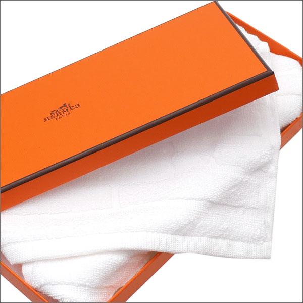 HERMES (エルメス) LABYRINTHE HAND TOWEL (ハンドタオル) WHITE 290-004343-030x【新品】