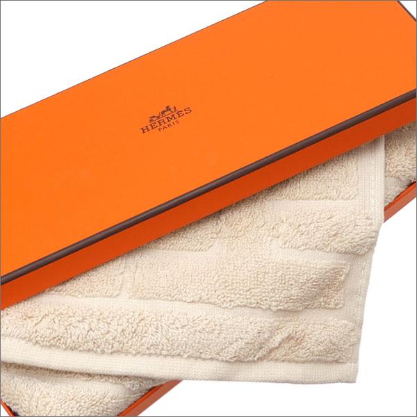 HERMES (エルメス) LABYRINTHE HAND TOWEL (ハンドタオル) BEIGE 290-004343-036x【新品】