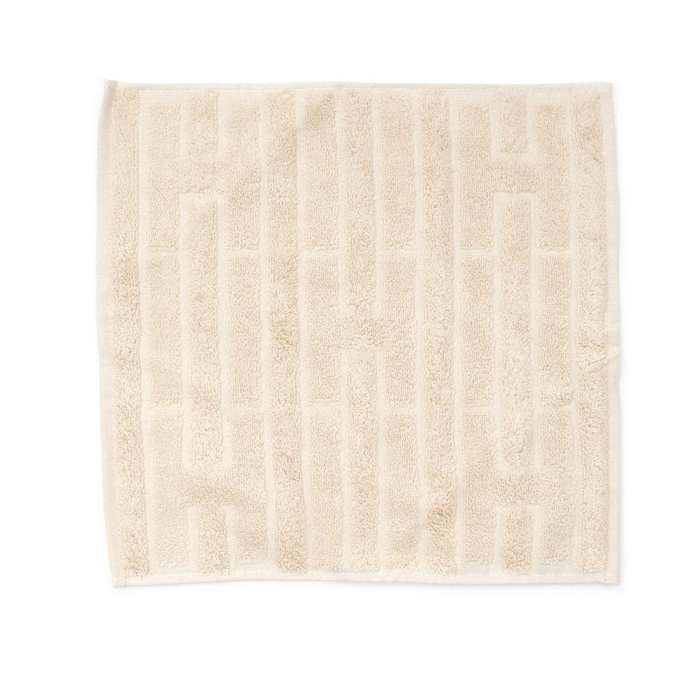 HERMES エルメス LABYRINTHE HAND TOWEL ハンドタオル BEIGE 290004343036 【新品】