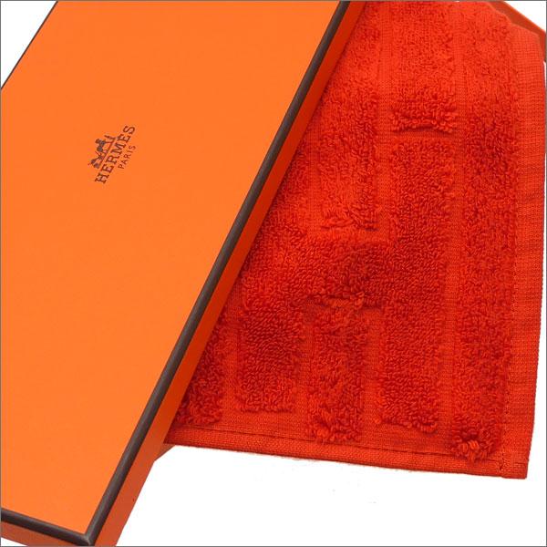 HERMES (エルメス) LABYRINTHE HAND TOWEL (ハンドタオル) ORANGE 290-004343-038x【新品】