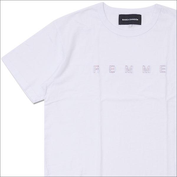 Bianca Chandon(ビアンカシャンドン) HOMME FEMME T-SHIRT (Tシャツ) WHITE 420-000046-040x【新品】