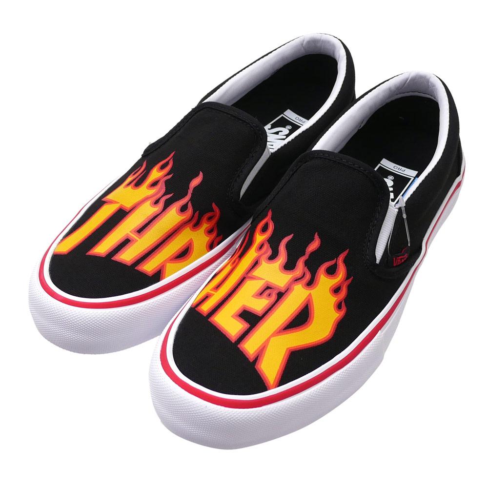 VANS x Thrasher SLIP ON PRO (THRASHER)BLACK 291 002282 271x (sneakers) (shoes)