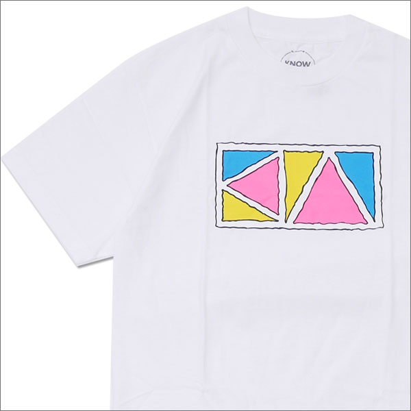 Know Wave(ノーウェーブ) Triangle T-Shirt (Tシャツ) WHITE 420-000062-040+【新品】