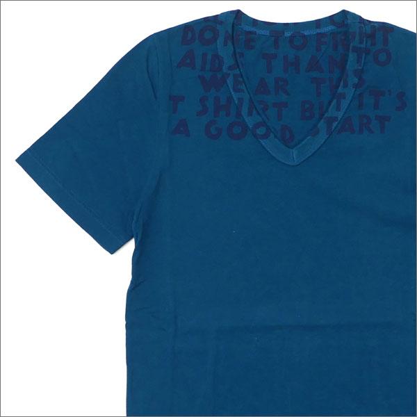 【期間限定特別価格!!】 Maison Margiela (メゾン・マルジェラ) AIDS T-SHIRT (Tシャツ) GREENxNAVY 200-007605-025+【新品】
