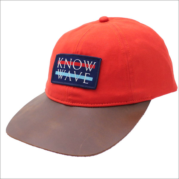 Know Wave(ノーウェーブ) Leather Brim Wavelength Cap (キャップ) ORANGE 265-000932-118+【新品】