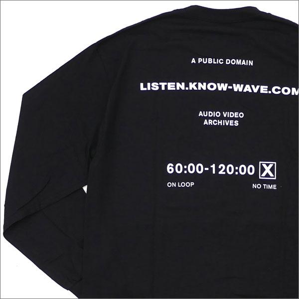 Know Wave(ノーウェーブ) Public Domain L/S Tee (長袖Tシャツ) BLACK 202-000903-141+【新品】