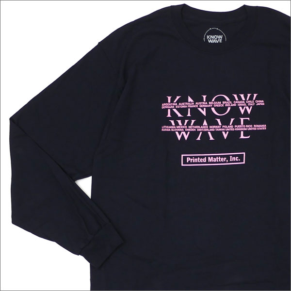 Know Wave(ノーウェーブ) NY Art Book Fair L/S Tee (長袖Tシャツ) BLACK 202-000902-141+【新品】
